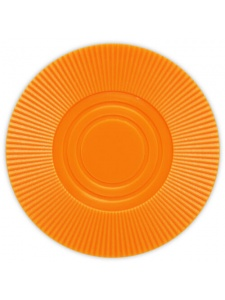 Orange - Radial Interlocking Plastic Poker Chips