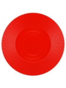 Red - Radial Interlocking Plastic Poker Chips