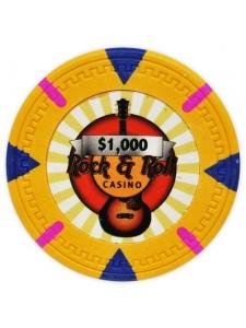 $1000 Orange - Rock & Roll Clay Poker Chips