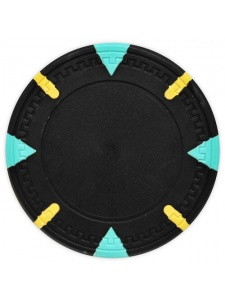 Black - Triangle & Stick Clay Poker Chips
