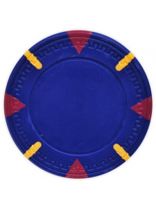 Blue - Triangle & Stick Clay Poker Chips