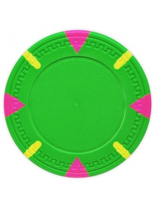 Green - Triangle & Stick Clay Poker Chips