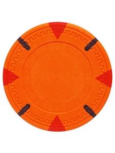 Orange - Triangle & Stick Clay Poker Chips
