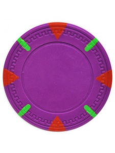 Purple - Triangle & Stick Clay Poker Chips