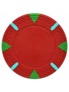 Red - Triangle & Stick Clay Poker Chips