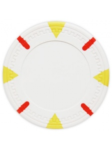 White - Triangle & Stick Clay Poker Chips