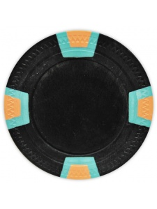 Black - Double Trapezoid Clay Poker Chips