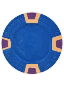 Blue - Double Trapezoid Clay Poker Chips