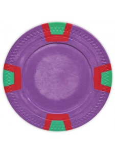 Purple - Double Trapezoid Clay Poker Chips