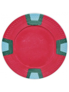 Red - Double Trapezoid Clay Poker Chips