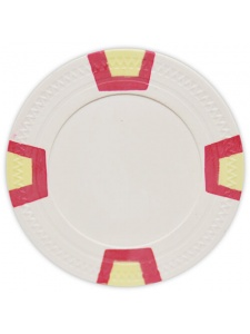 White - Double Trapezoid Clay Poker Chips