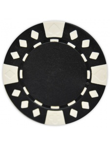 Black - Diamond Suited Clay Poker Chips