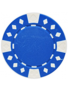 Blue - Diamond Suited Clay Poker Chips