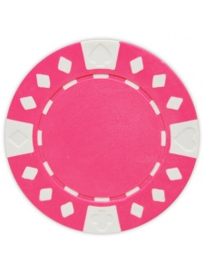 Pink - Diamond Suited Clay Poker Chips