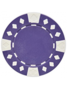 Purple - Diamond Suited Clay Poker Chips