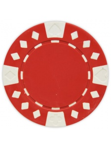 Red - Diamond Suited Clay Poker Chips