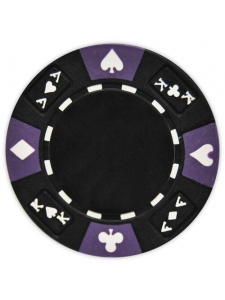 Black - Ace King Suited Clay Poker Chips
