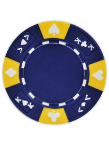 Blue - Ace King Suited Clay Poker Chips