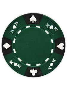 Green - Ace King Suited Clay Poker Chips