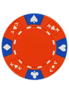 Red - Ace King Suited Clay Poker Chips