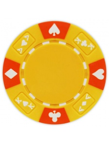 Yellow - Ace King Suited Clay Poker Chips