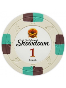 $1 Ivory - Showdown Clay Poker Chips
