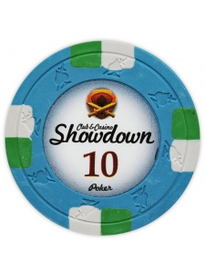 $10 Blue - Showdown Clay Poker Chips