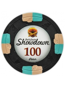 $100 Black - Showdown Clay Poker Chips