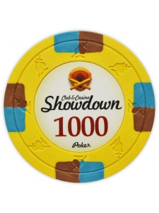 $1000 Yellow - Showdown Clay Poker Chips