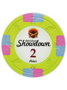 $2 Light Green - Showdown Clay Poker Chips