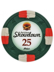 $25 Green - Showdown Clay Poker Chips