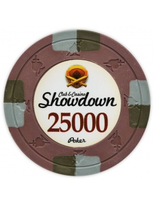 $25000 Brown - Showdown Clay Poker Chips