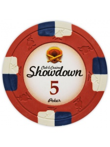 $5 Red - Showdown Clay Poker Chips