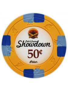 50¢ Orange - Showdown Clay Poker Chips