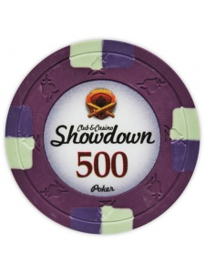 $500 Purple - Showdown Clay Poker Chips