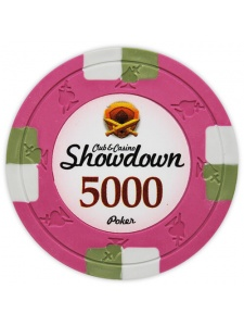 $5000 Pink - Showdown Clay Poker Chips