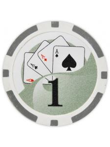 $1 Gray - Yin Yang Clay Poker Chips