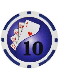 $10 Blue - Yin Yang Clay Poker Chips