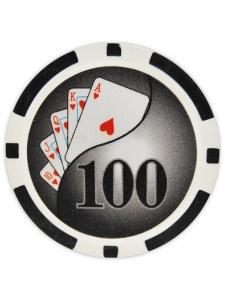 $100 Black - Yin Yang Clay Poker Chips