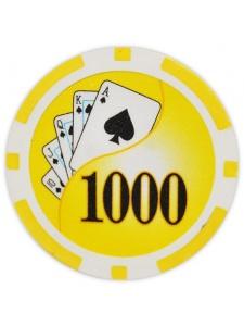 $1000 Yellow - Yin Yang Clay Poker Chips
