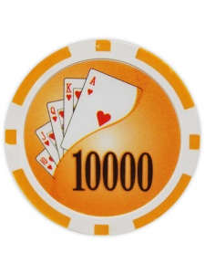 $10000 Orange - Yin Yang Clay Poker Chips