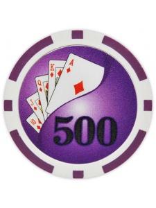 $500 Purple - Yin Yang Clay Poker Chips