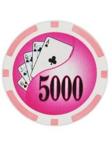 $5000 Pink - Yin Yang Clay Poker Chips
