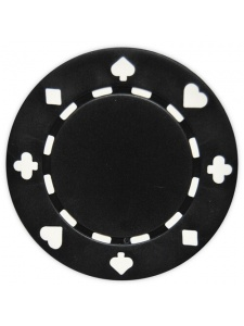 Black - Suited Clay Poker Chips