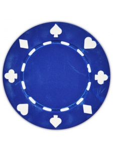 Blue - Suited Clay Poker Chips