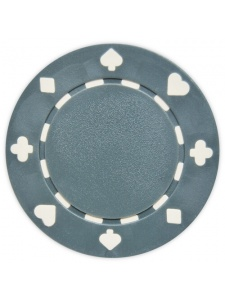 Gray - Suited Clay Poker Chips