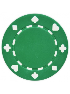 Green - Suited Clay Poker Chips
