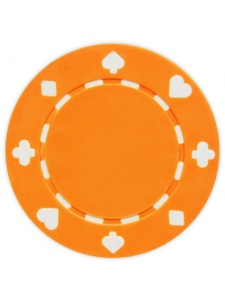 Orange - Suited Clay Poker Chips