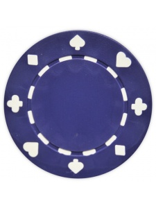 Purple - Suited Clay Poker Chips