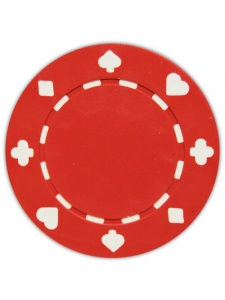 Red - Suited Clay Poker Chips